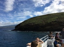 Snorkeling stop #1: Molokini Crater