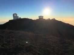 The observatory at the summit of Haleakala